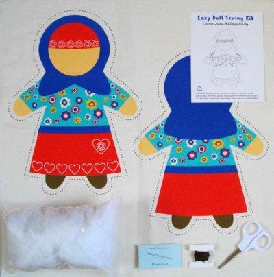 画像2: ムスリマ人形ソーイング・キット Easy Doll Sewing Kit